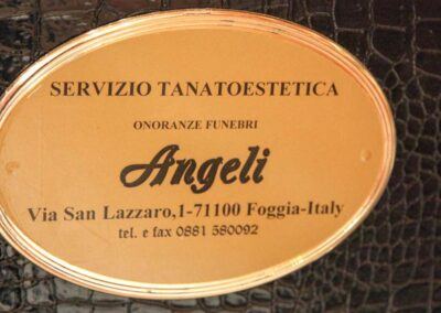 targa onoranze funebri angeli foggia