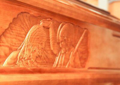 Onoranze funebri Foggia particolare su cassa mortuaria